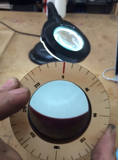Calibrating the polarising filter
