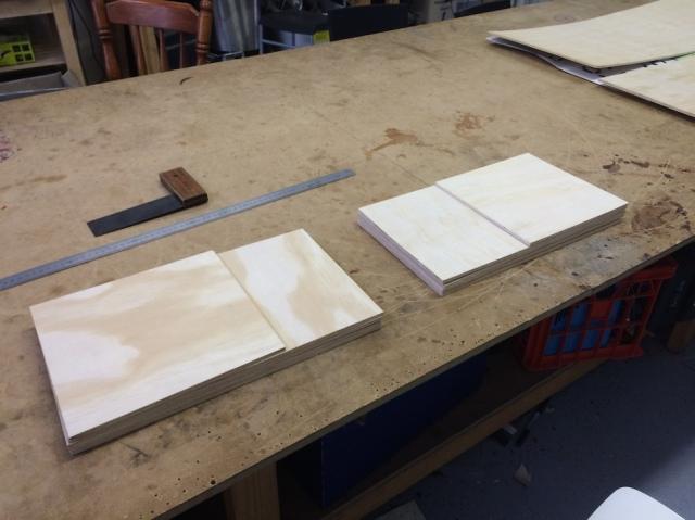 Wooden plates freshly cut
