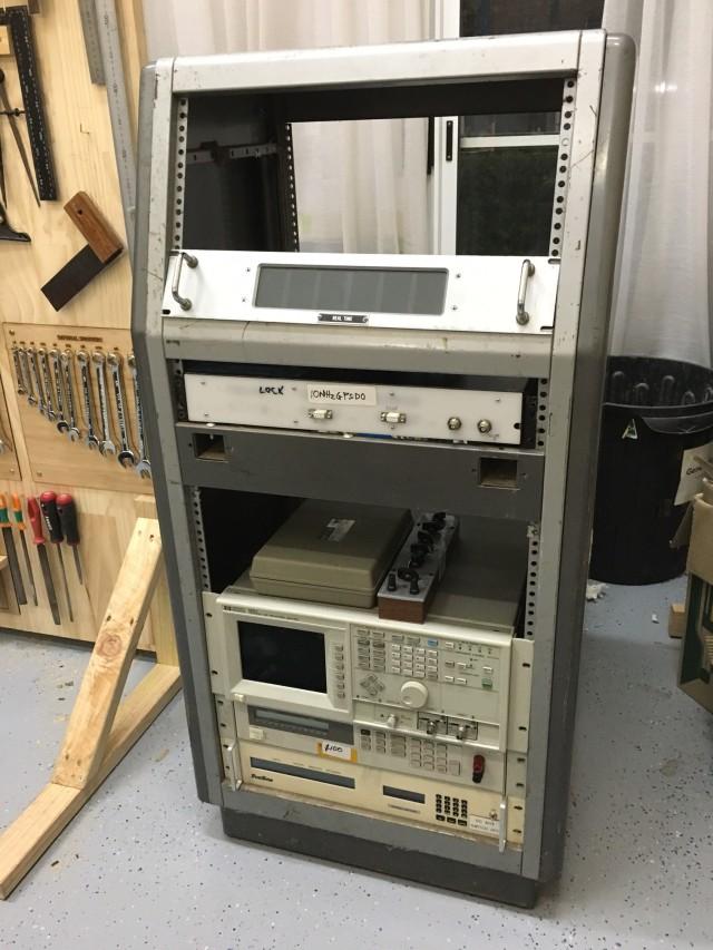 Rack full of various equipment