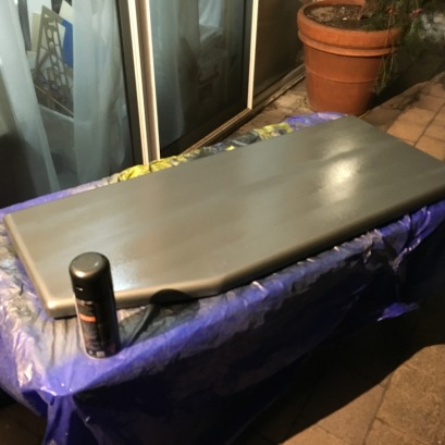 side panels being painted