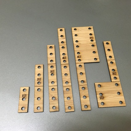 Laser cut 19 inch rack templates