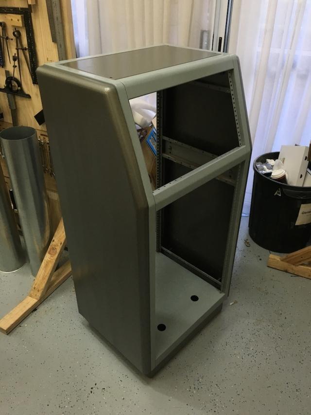 Main rack painted
